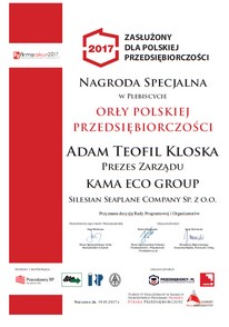 Plebiscite of the Eagle of Polish Entrepreneurship for the President of the Board Adam Kloska